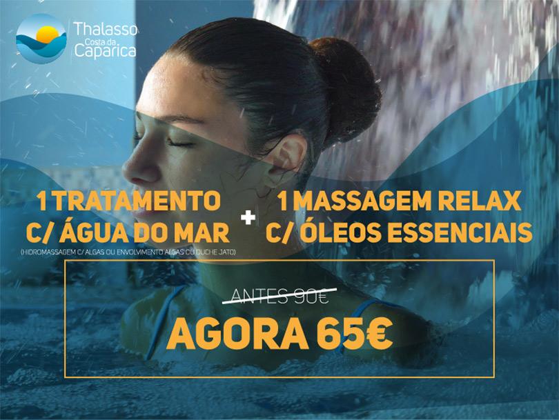 1 tratamento Talassoterapia + 1 massagem 25'